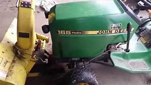 John Deere 165 Snowblower Help