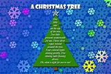 Project - PSE Christmas Tree Poem Card   George Peirson ...