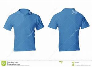 Men 39 S Blank Blue Polo Shirt Template Stock Image Image