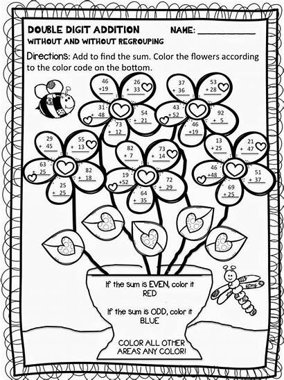 Coloring Subtraction Addition Digit Worksheets Clipart Double