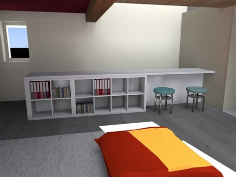 plan de travail bureau ikea meuble garde corps architecte d 39 intérieur ardèche