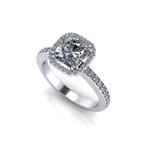 halo cushion engagement ring jewelry designs