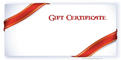 Make Your Own Gift Certificate Template by Printable Gift Certificate Templates