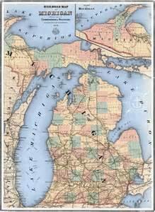 1850 Railroad Map of Upper Peninsula Michigan
