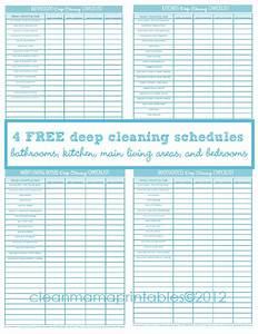 Deep Cleaning   4 Free Printables