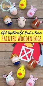 Diy, Toys, Farm, Painted, Wooden, Eggs