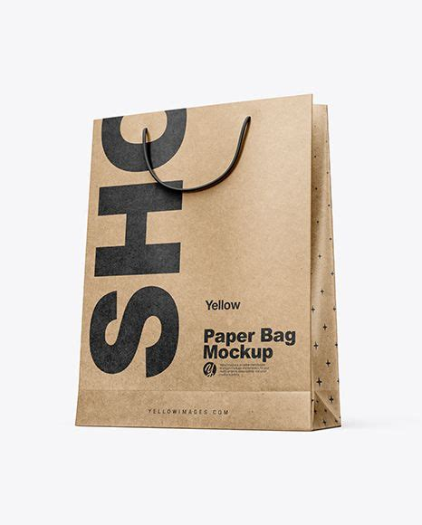 Shopping is fun, you see people would never waste the moment and opportunity to go for a shopping spree. Free PSD Mockup Kraft Paper Shopping Bag Mockup - Half ...