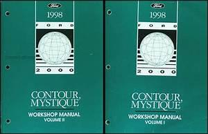 1998 Ford Contour Mercury Mystique Shop Manual Set 98