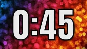 45, Second, Timer, U23f2, Ufe0f