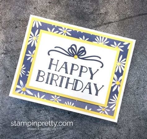 simple happy birthday cards mary fish stampin pretty