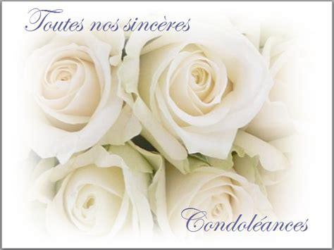 modèle carte de condoléances carte condol 233 ances 187 gt cartes condoleances fleurs