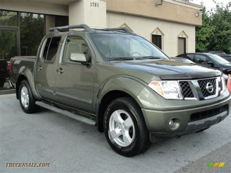 nissan green 2005 nissan frontier le crew cab in canteen metallic green