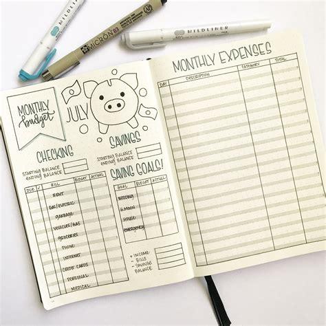 bullet journal budget  finance tracker