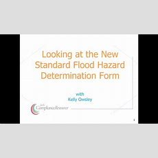 Review Of The New Standard Flood Hazard Determination Form Youtube