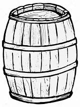 Barrel Wooden Vector Drawing Pages Illustration Keg Barrels Coloring Beer Template Sketch Background Simpsons Cliparts Depositphotos St Thanksgiving sketch template