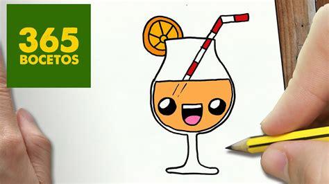 como dibujar zumo kawaii paso  paso dibujos kawaii faciles   draw  juice youtube