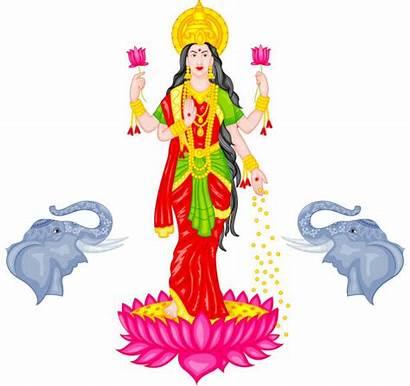 Goddess Lakshmi Vector Clipart Clip Illustration Illustrations