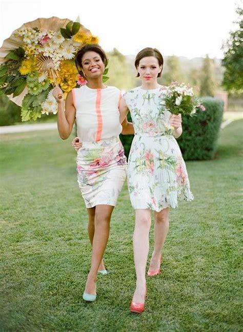 vestidos de dama de honor  estampado floral bodas