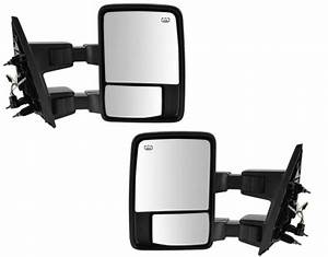 Side Manual Towing Mirrors Tow Pair Driver Passenger Left