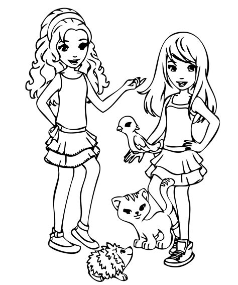 LEGO Friends Coloring Pages - GetColoringPages.com