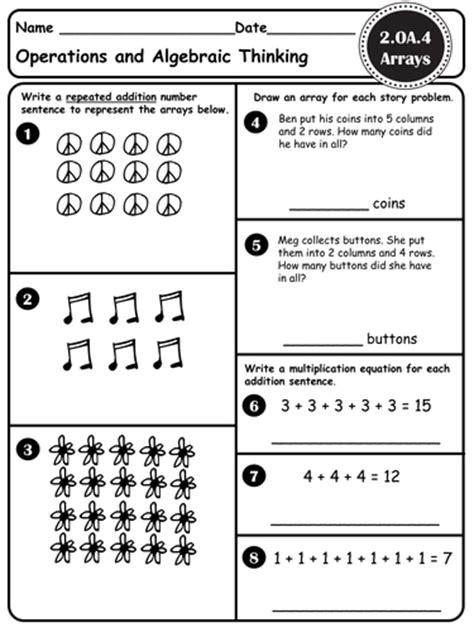 Arrays  Introduction To Multiplication  Ccss 3mdc7, 3mdc7b, 3oaa3, 2oa4, 2ga2 By