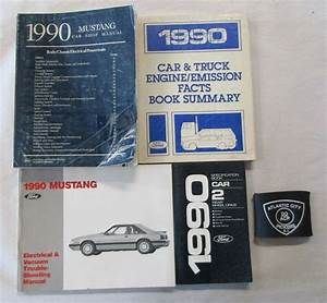 1990 Ford Mustang Service Shop Repair Manual  U0026 Wiring