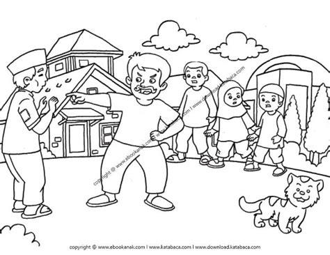 hitam putih18 gambar mewarnai orang sholat berjamaah