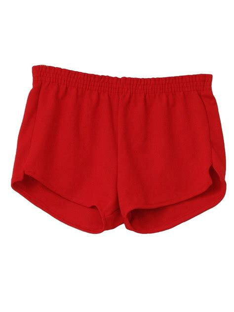 vintage  shorts  russell mens red super short