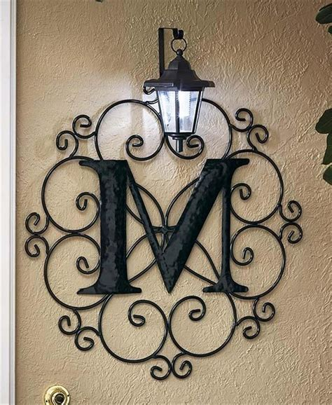 collection  monogram metal wall art