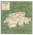 google maps europe: Map of Switzerland Country Area