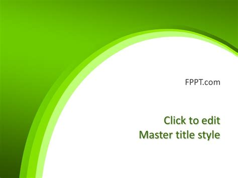 creative green background powerpoint template
