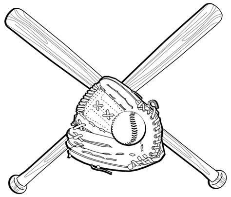 baseball glove drawing clipart best