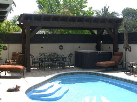 cool pool side shade pergolas pavilions arbors western timber frame