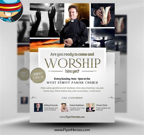The Best Free Church Templates For by 10 Best Images Of Church Homecoming Flyer Templates Free