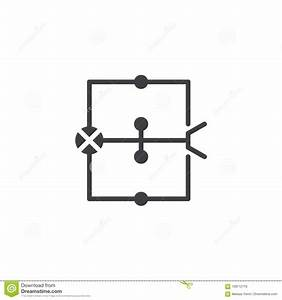 Wiring Diagram Icon Vector Stock Vector  Illustration Of