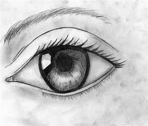 Drawn eye emo - Pencil and in color drawn eye emo