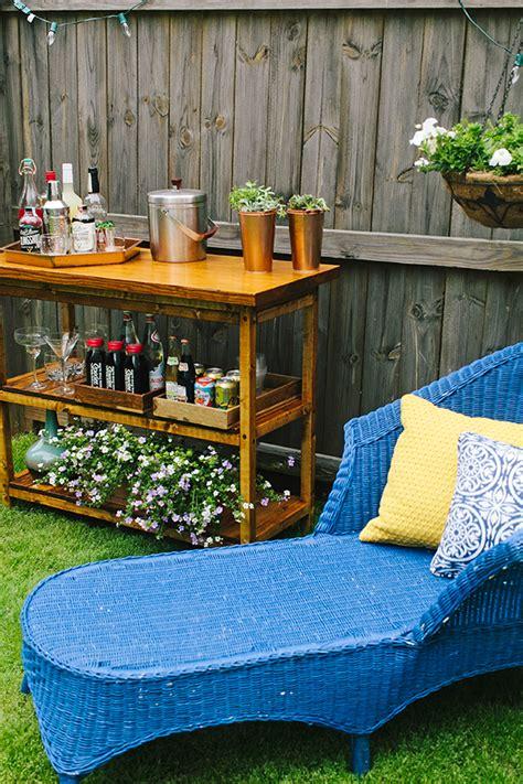 Backyard Table by Diy Indoor Outdoor Bart Cart Table