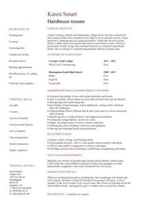 hair stylist resume template word student entry level hairdresser resume template