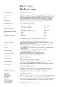 resume exles for salons student resume targeted at a hairdresser vacancy jess student resume resume