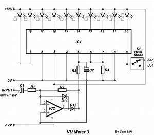 Vu Meter Menggunakan Tl071 Dan Lm3915