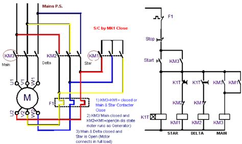 Power Circuit Star Delta Starter Electrical Info Pics