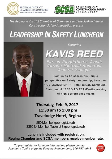 kavis reed leadership  safety luncheon complimentary