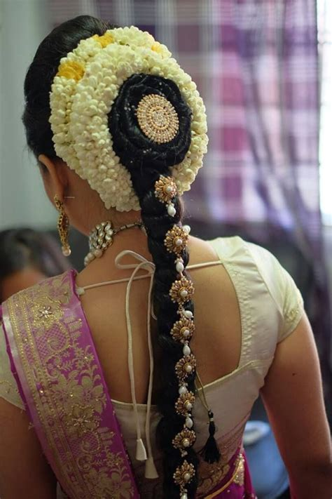 tamil bridal hairdo  simple  beautiful satisfiq