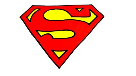 How To Draw Superman Logo Step By Step Easy For Kids |