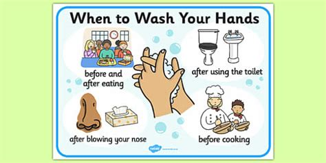 When To Wash Your Hands Display Sign  Washing, Healthy