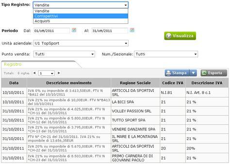 registri iva sezionali registri iva applicazione per smartphone