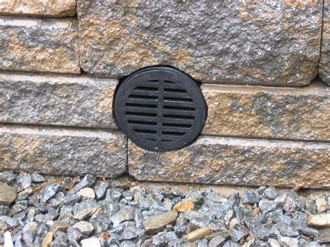 retaining wall with drainage pipe retaining wall drainage pipe options lawnsite