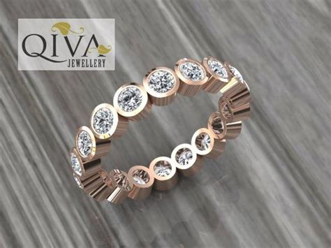 Rose Gold Ring.eternity Ring.rose Gold Eternity Band