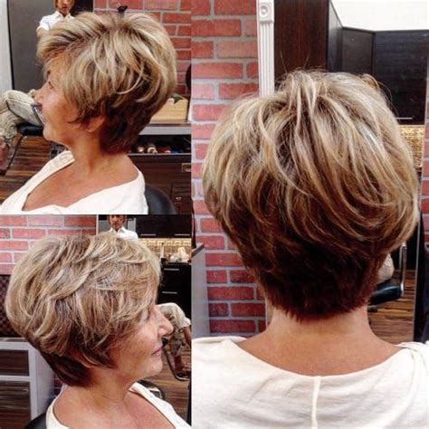 flattering short haircuts  older women