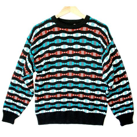 colorful sweaters wavy bars textured colorful cosby sweater the